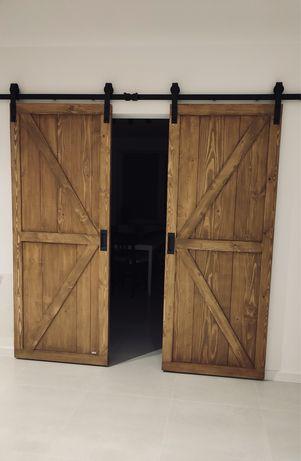 Drzwi przesuwne, wybrany wymiar, sosna/ dąb/ modrzew