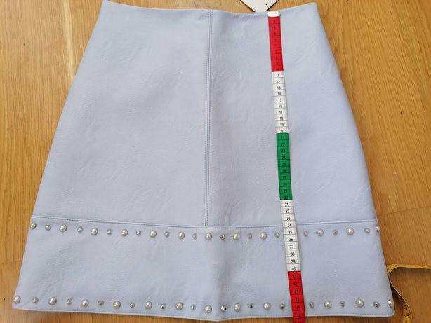 Spódnica Orsay 34 szaroniebieska