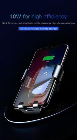 Uchwyt samochodowy z ładowarką indukcyjną QI - Baseus - 10W  iPhone