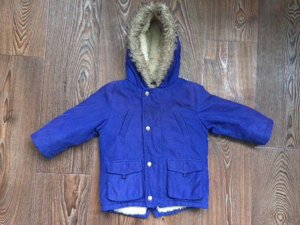 Демисезонная куртка - парка для мальчика george 12-24 мес (осенняя, ве