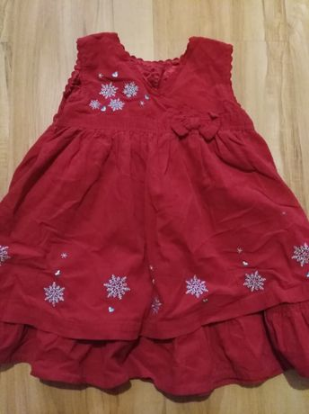 Elegancka sukienka na święta r. 12-18 miesięcy