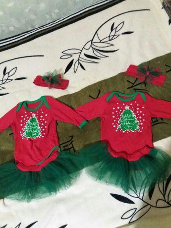 Новогодние костюмы для девочек. Новогодние костюмы Для двойни