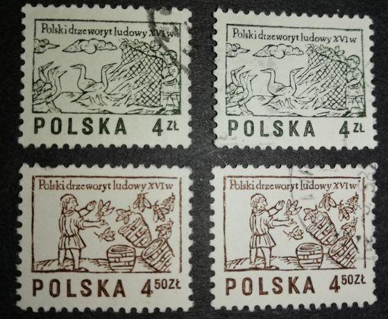 Znaczki Polski drzeworyt ludowy XVI w 4 zł 4.50 zł