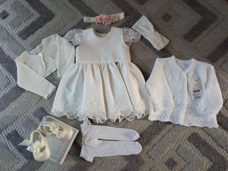 Komplet do chrztu sukieneczka LaMere Mayoral cena z wysyłką