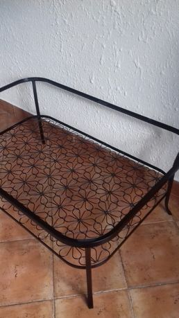 ikea klingsbo rama stelaż metalowy czarny stolik kawowy