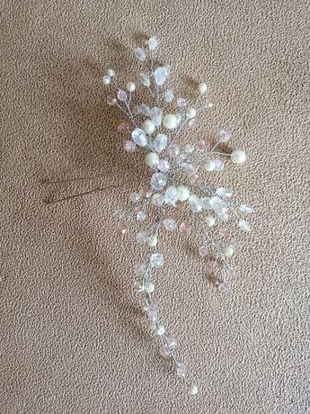 Свадебные украшения: заколка веточка, браслет, сережки