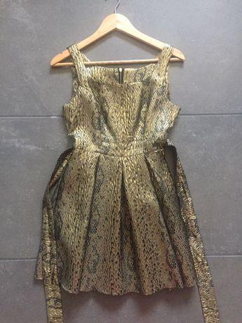 Złota sukienka, rozmiar S, studniówka/wesele/osiemnastka , OKAZJA!