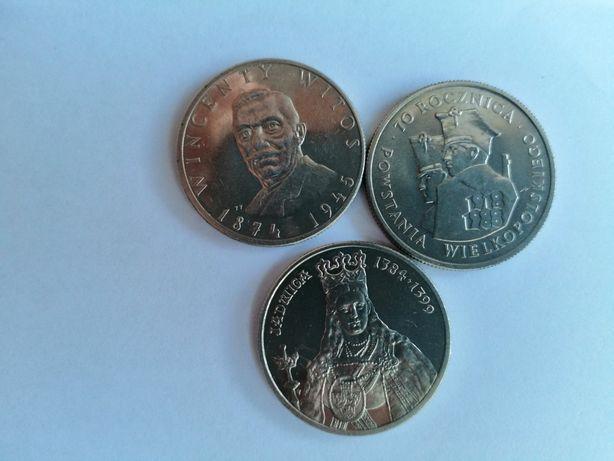 3 monety 100zł PRL Wincenty Witos, Jadwiga, 70 rocznica PW