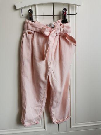 Spodnie ZARA rozm. 92 cm różowe