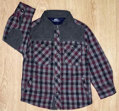 Утеплённая стильная Рубашка Кофта Rebel Zara Next(возраст 2-3 года)