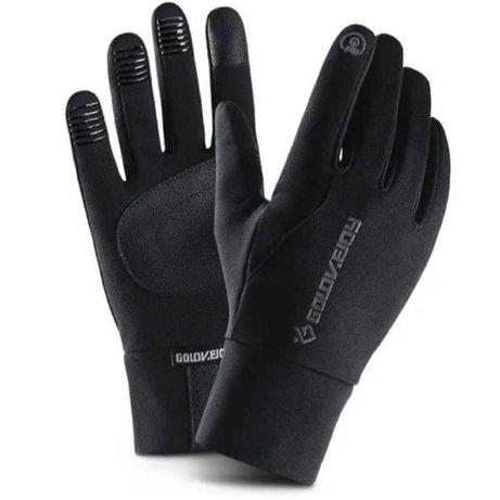 Спортивные тёплые/ термо перчатки/ водоотталкивающие с флис сенсорные