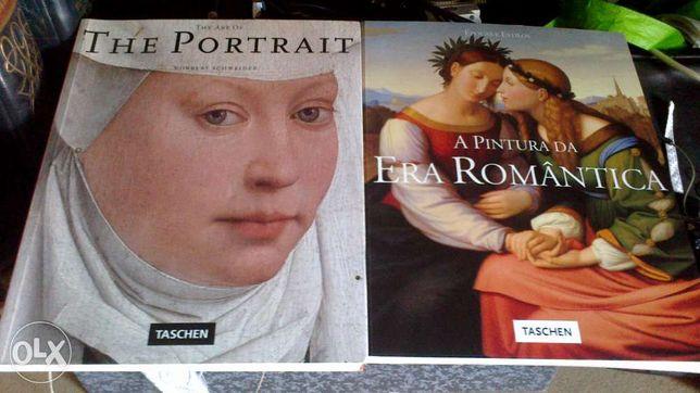o portrato e a pintura da era romantica 2 livros 40 cm