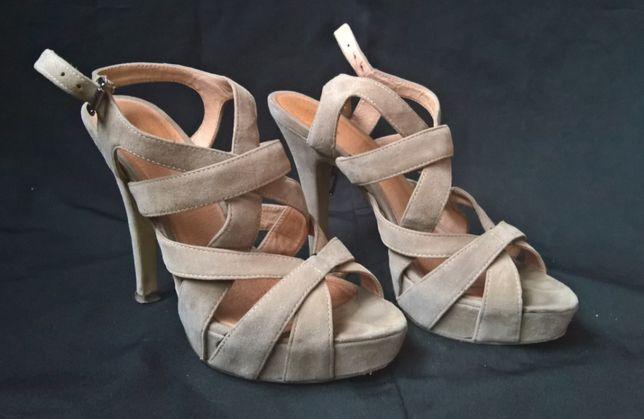 Beżowe sandały Deichmann Graceland roz.38
