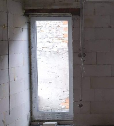 Okno balkonowe  3 szybowe kolor antracyt