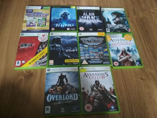 Gry xbox 360,asasins,halo,PGR,Overlord,Segao mega,The thing, Alan wake