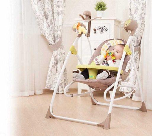 Детское кресло-качалка 3в1 качалка 0+ люлька с пультом