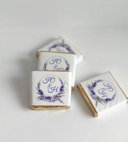 Весільний шоколад, шоколад гостям, шоколад з логотипом, бонбоньєрка