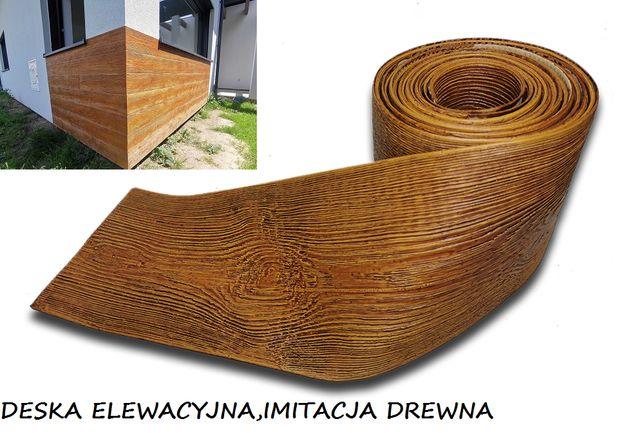 Deska Elewacyjna Pomalowana Imitacja Drewna Pełny Zestaw 1m2