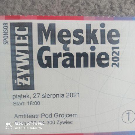 Bilet bilety męskie granie żywiec 27 sierpnia
