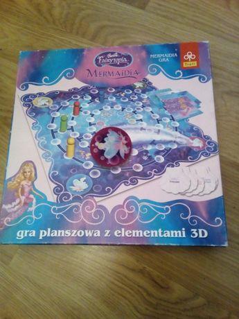 gra Mermaidia Fairytopia Barbie planszowa z 3D Trefl plus puzzle
