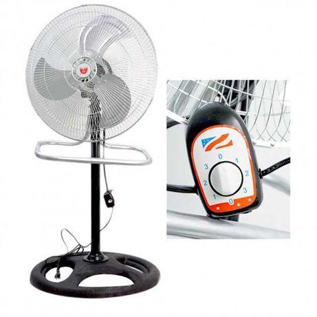 Металлический вентилятор 2 в1 напольный настольный со съемной ножкой
