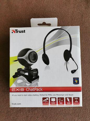 Headset + Câmara Trust - Chat Pack