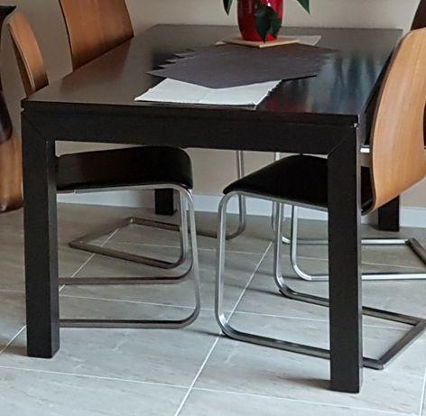 Stół rozkładany lite drewno egzotyczne