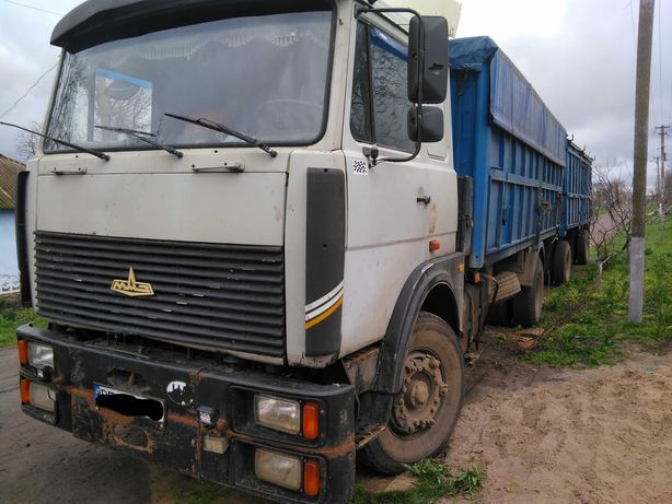 Продается МАЗ бортовой 53366 , 1999 г. с прицепом