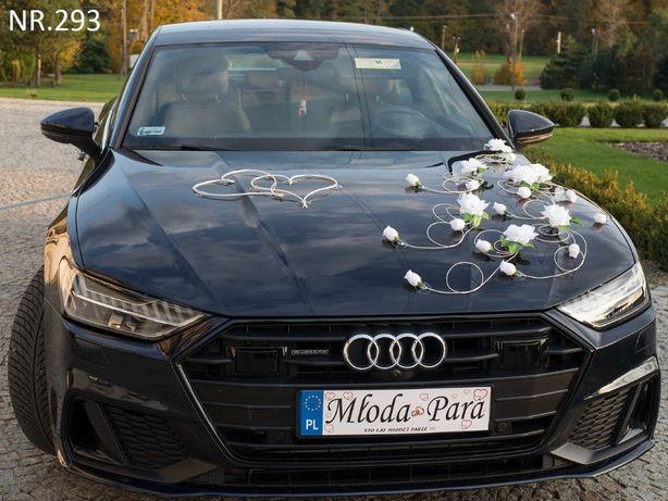 Piękna biała dekoracja-ozdoba na samochód dostępna w dowolnym kolorze