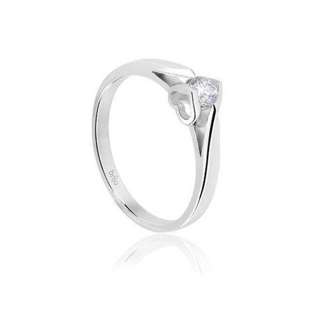 Zamienię - pierścionek zaręczynowy Briju  brylant, białe złoto