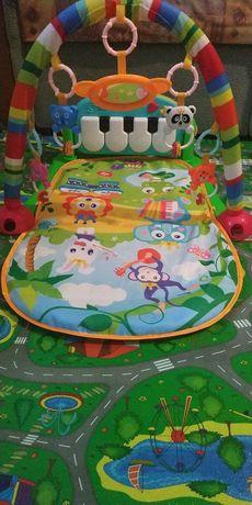 Детский игровой коврик с пианино
