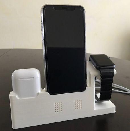 Dock Carregamento Iphone, Apple Watch, AirPods (Vários tipos)