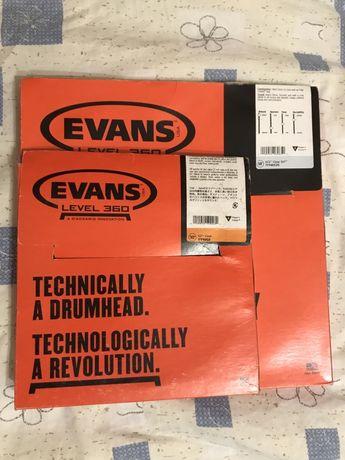 """EVANS EC2 10"""", 14"""" пара или по штучно пластики для барабанов"""