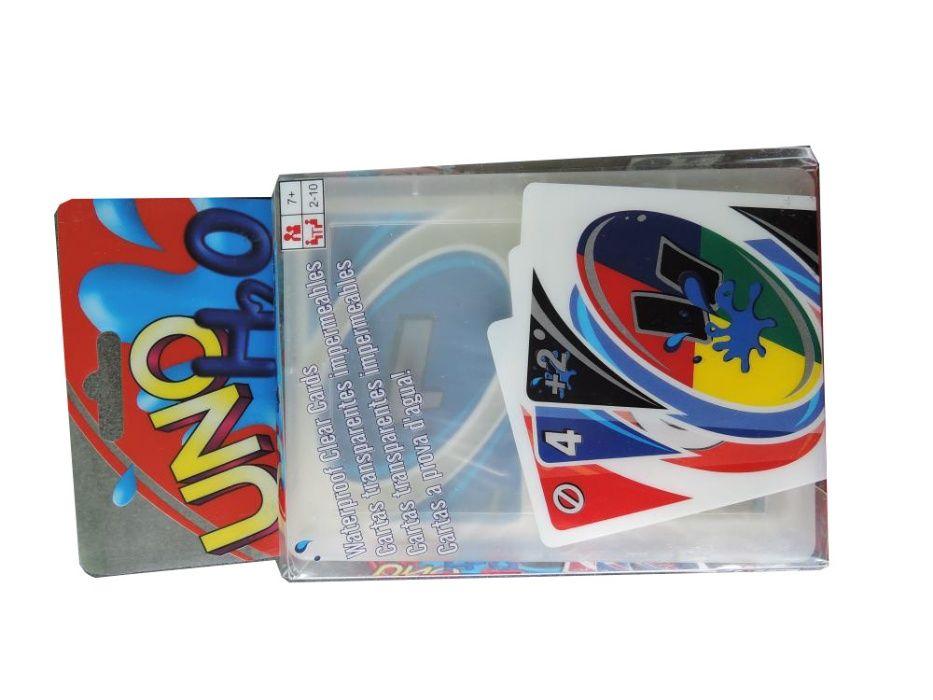Karty Uno H2O platikowe wodoodporne 108 kart w talii