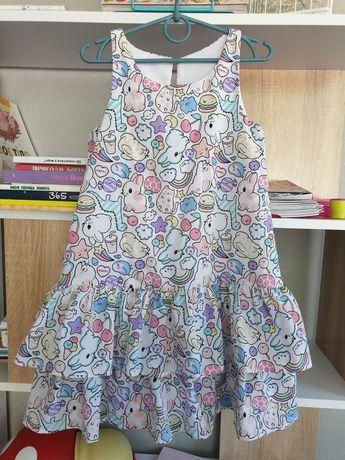 яркое платье 116 рост