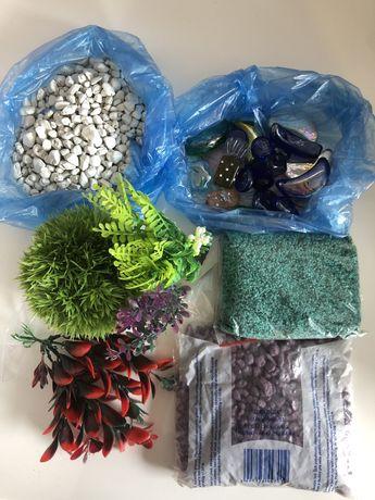 Akcesoria do akwarium kamyki ozdoby sztuczna roślina żwirek