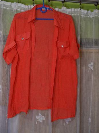 bluzka rozpinana z krótkim rękawem roz 46
