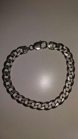 Bransoleta srebrna pr 925, 34 gramy, pancerka, bransoletka, srebro,