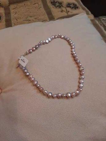 Naturalne perły różowe ~ piękny naszyjnik