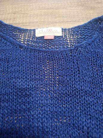Granatowy sweter Cropp