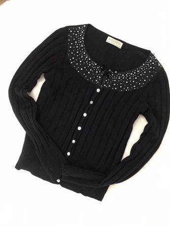 Sliczny słodki  sweterek welna guziki r . S/M