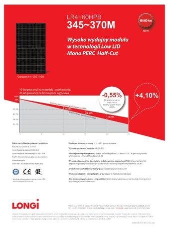 Panele fotowoltaiczne, Panele PV, LONGI SOLAR FULL BLACK 345 WP