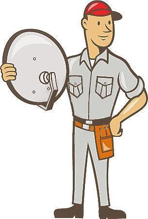 Instala-se e orienta-se antenas parabolicas e antenas TDT.