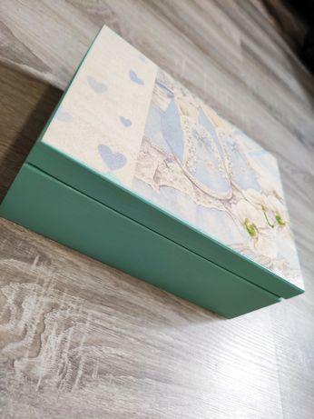 Pudełko, szkatułka 22x16 metryczka dziecka, grawer