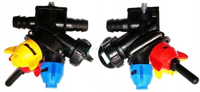 Głowica 3-pozycyjna do opryskiwacza RSM dysza przeciwwietrzna kpl.