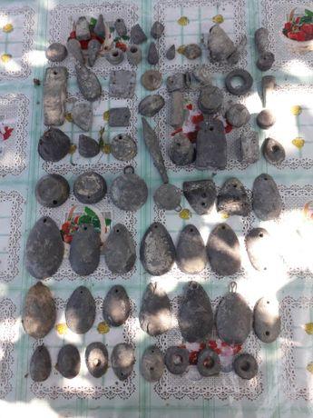 Продам литі свинцеві грузи різної форми