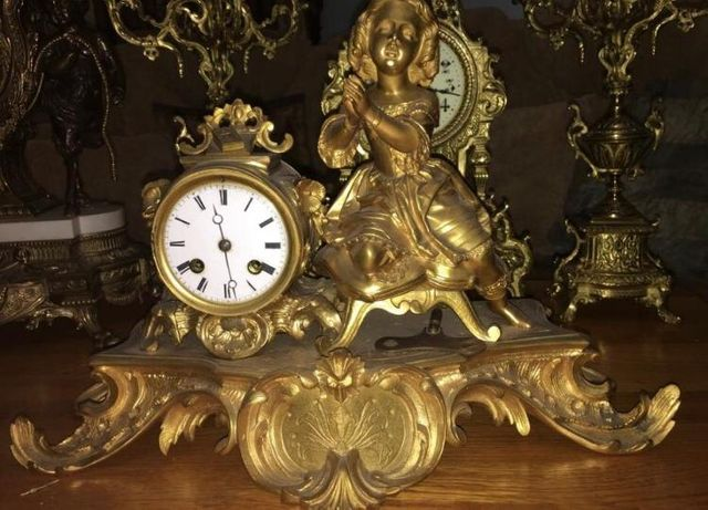 Каминные часы Франция!