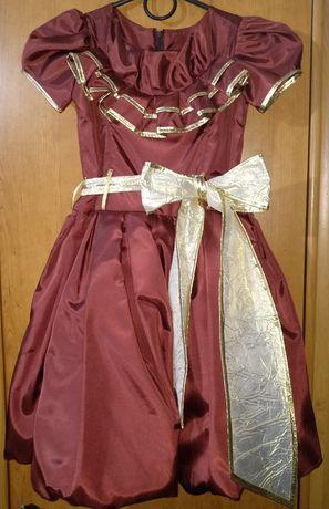 Принцессное платье на праздник, выпускной 116-134