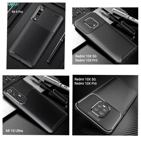 Capa T/ Fibra Carbono Xiaomi Mi 9 Pró / Mi 10 Ultra / Redmi 10X 5G -24