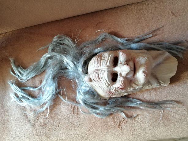 Maska na Halloween straszna czarownica horror babka